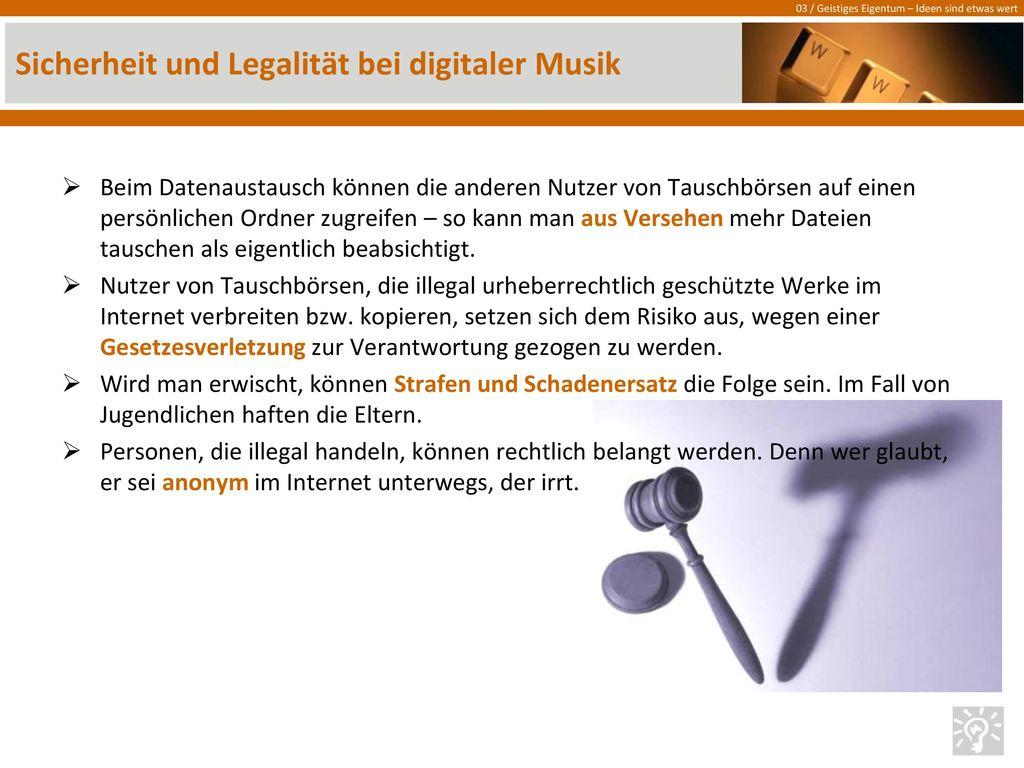 Sicherheit und Legalität bei digitaler Musik