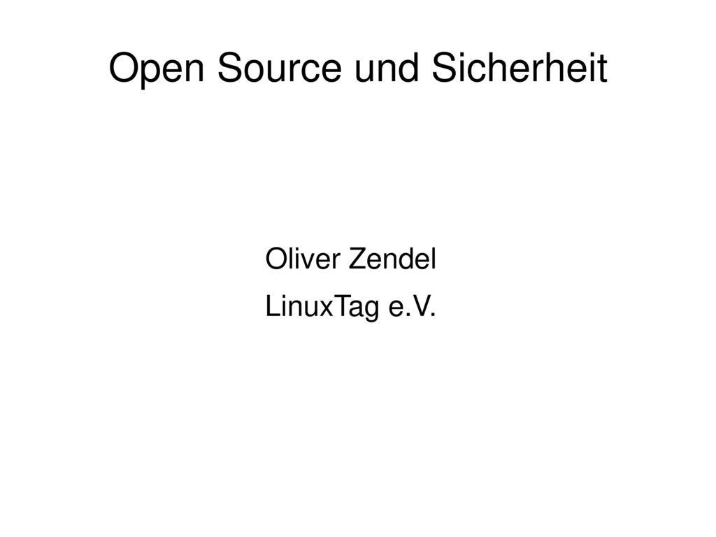 Open Source und Sicherheit