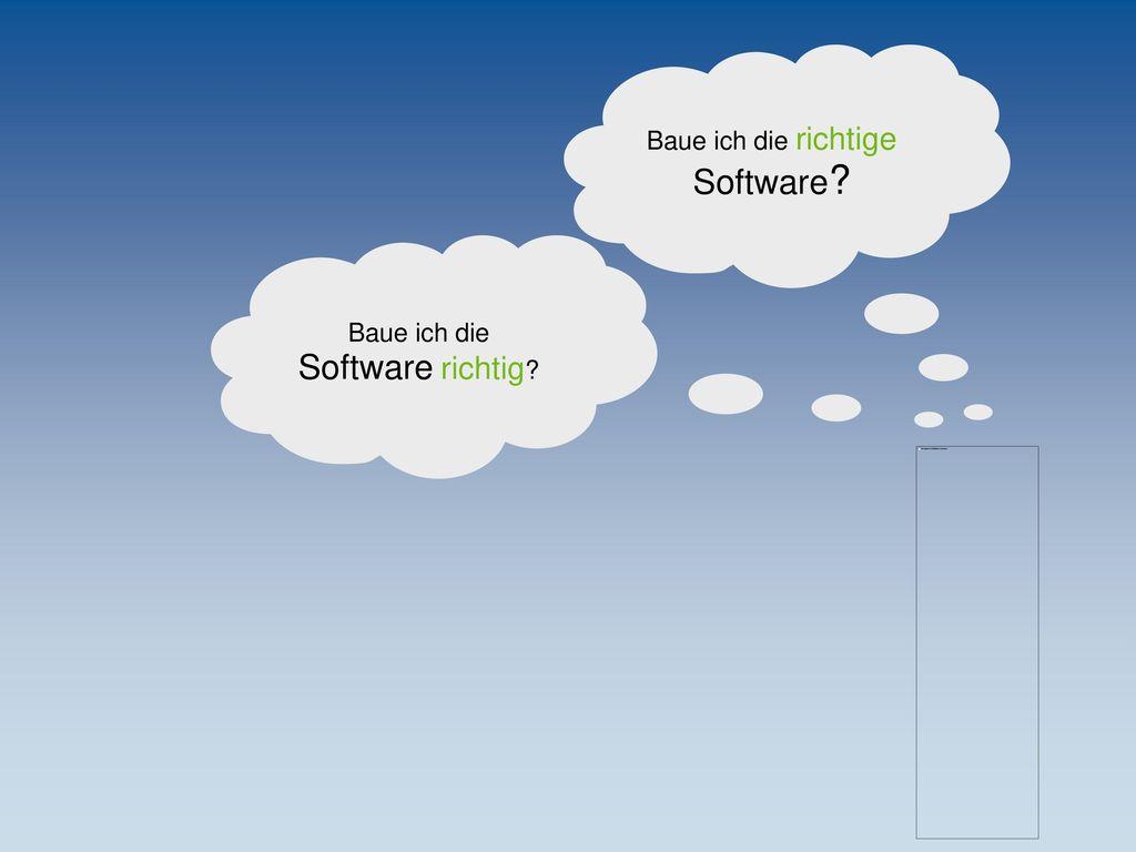 Baue ich die richtige Software Baue ich die Software richtig