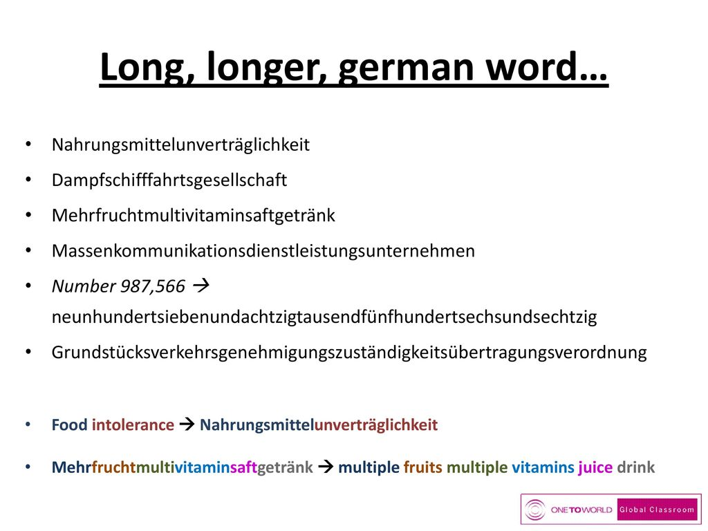 Long, longer, german word…