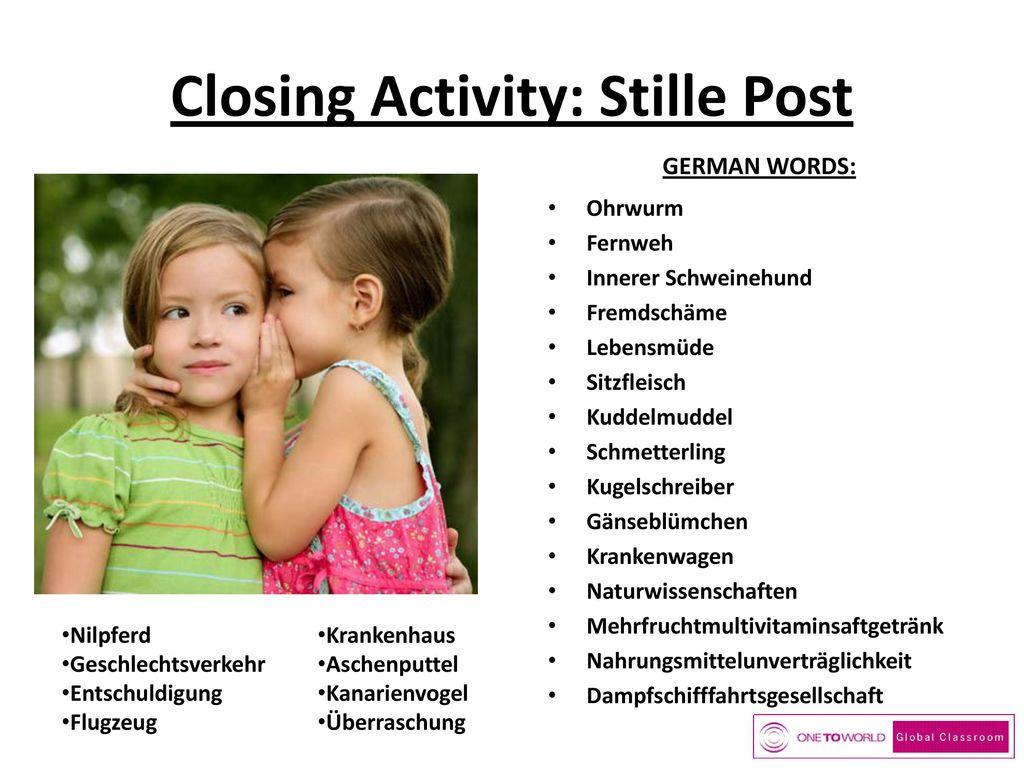 Closing Activity: Stille Post