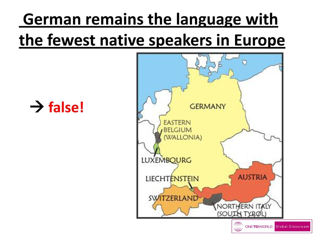 German remains the language with the fewest native speakers in Europe
