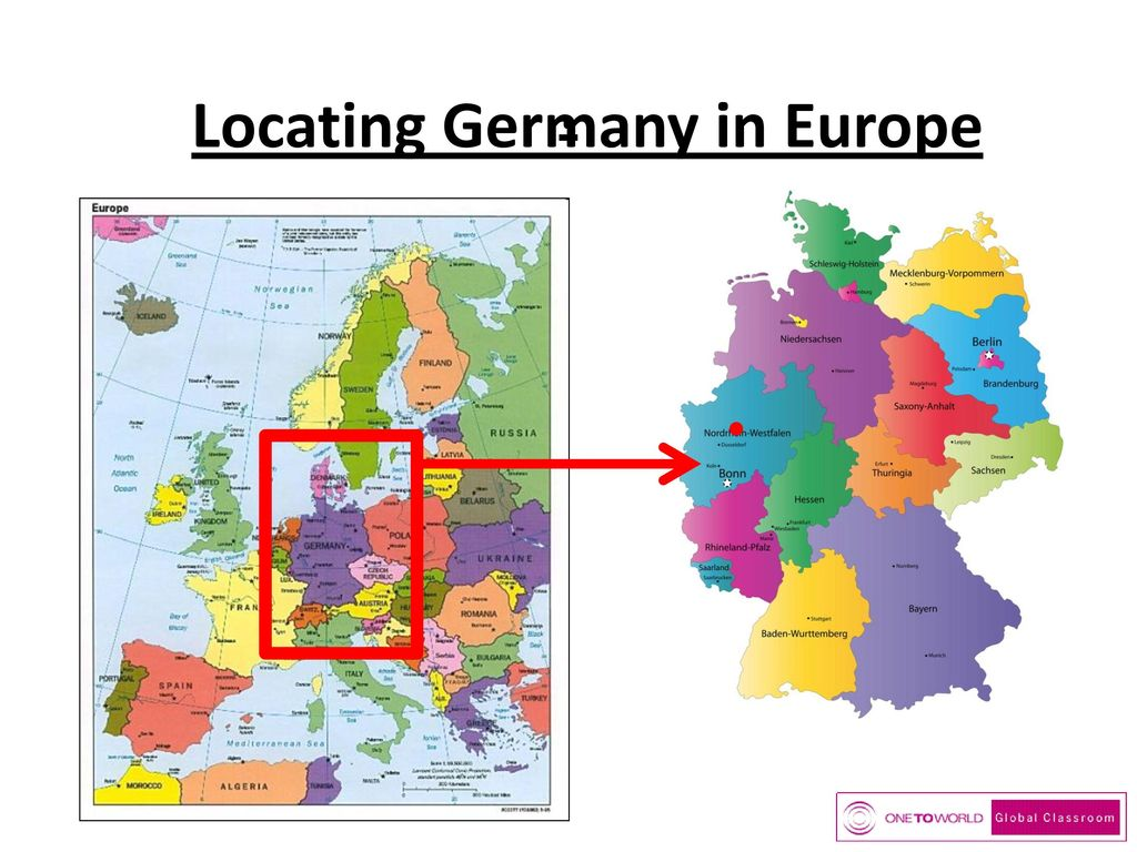Locating Germany in Europe