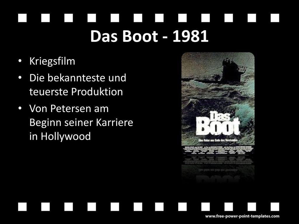 Das Boot - 1981 Kriegsfilm Die bekannteste und teuerste Produktion