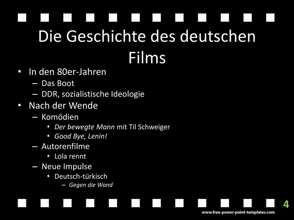 Die Geschichte des deutschen Films