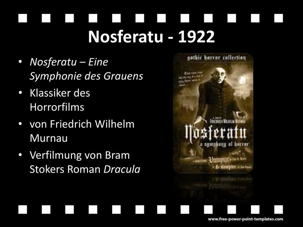 Nosferatu - 1922 Nosferatu – Eine Symphonie des Grauens