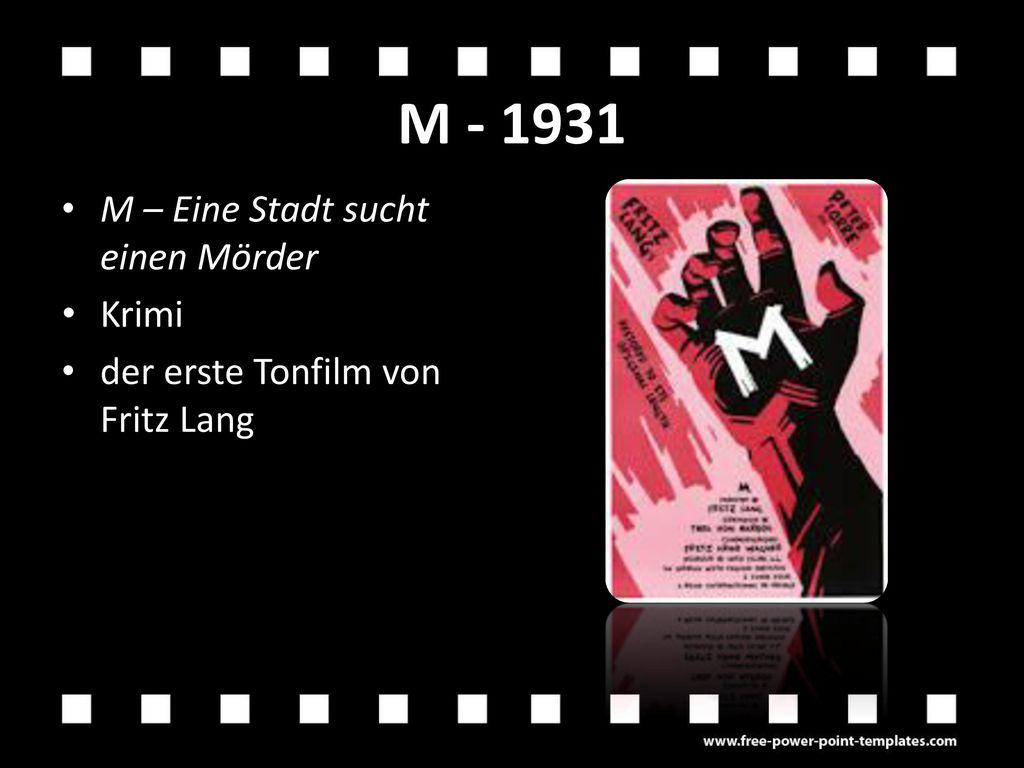 M - 1931 M – Eine Stadt sucht einen Mörder Krimi