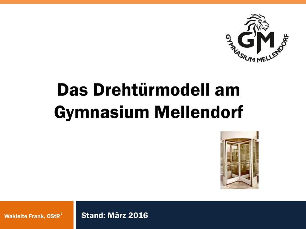 Das Drehtürmodell am Gymnasium Mellendorf