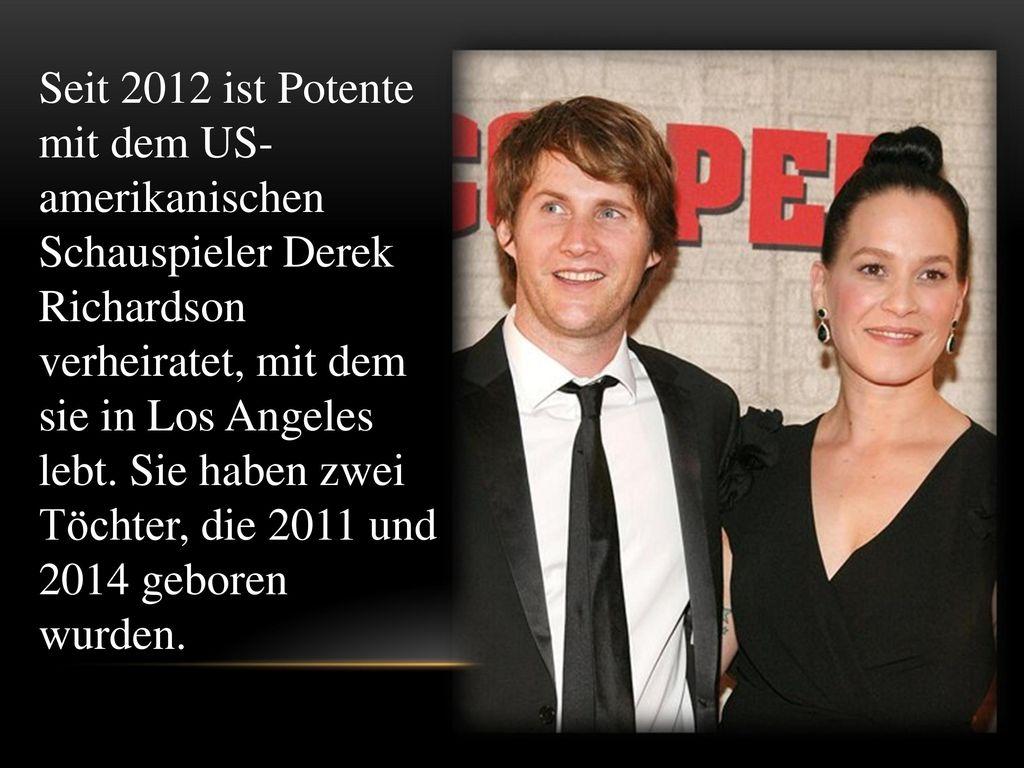 Seit 2012 ist Potente mit dem US-amerikanischen Schauspieler Derek Richardson verheiratet, mit dem sie in Los Angeles lebt.