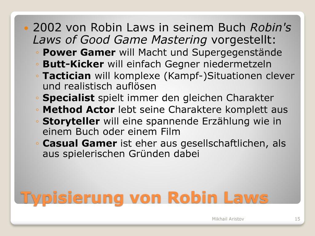 Typisierung von Robin Laws