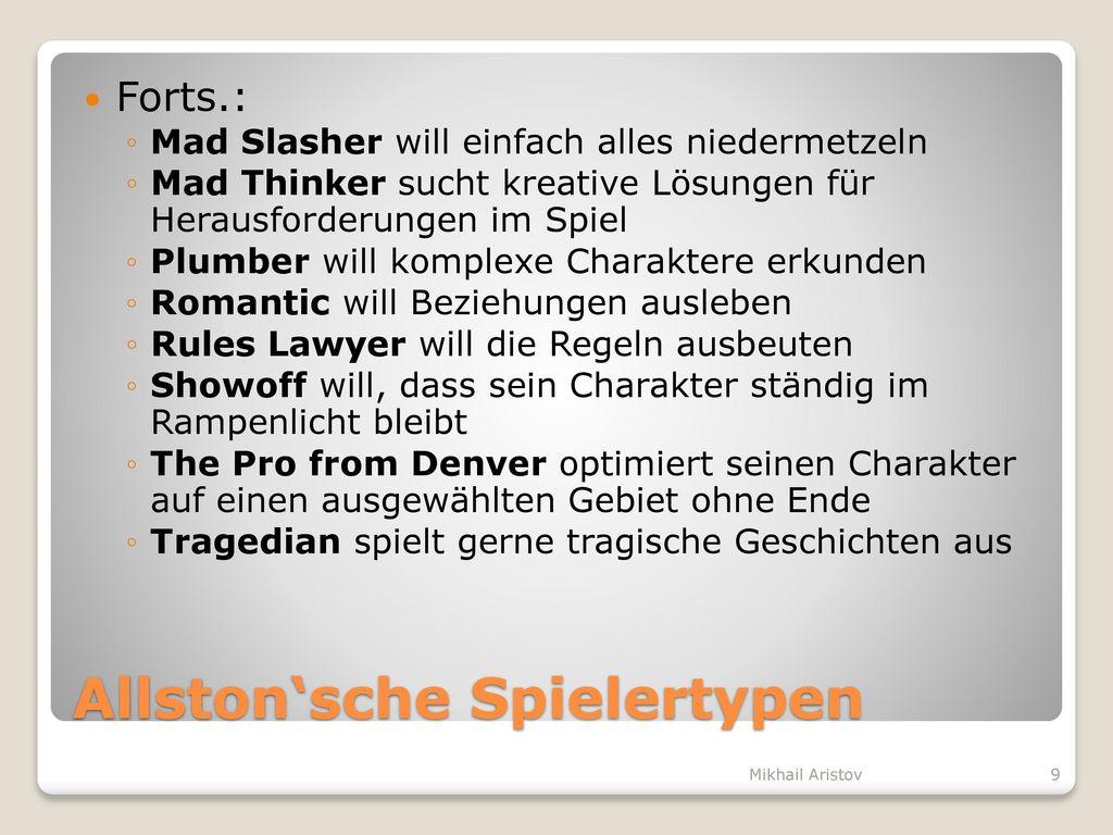 Allston'sche Spielertypen