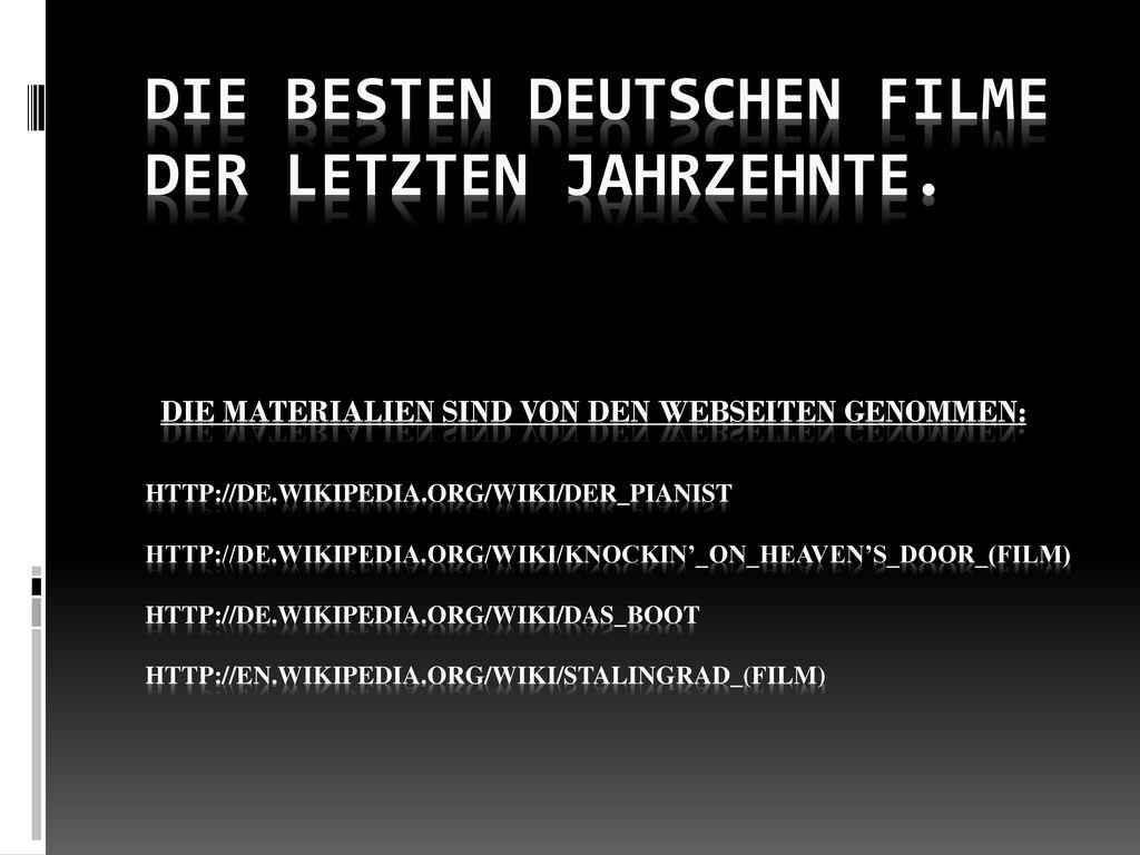Die besten deutschen Filme der letzten Jahrzehnte