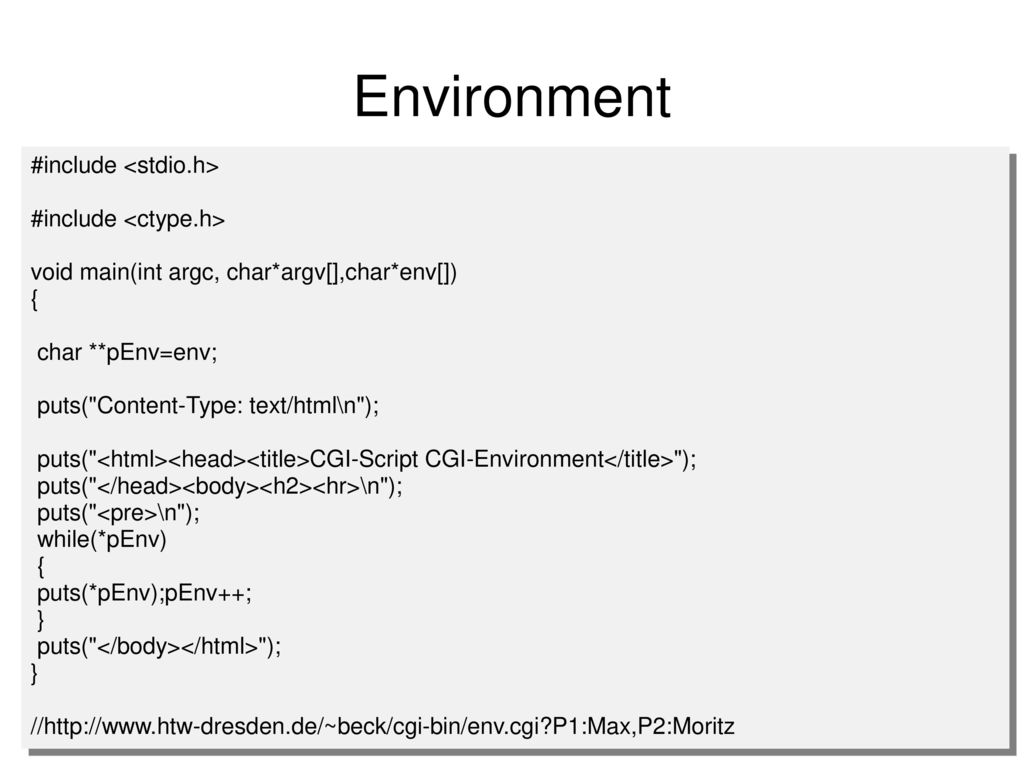 Environment #include <stdio.h> #include <ctype.h>