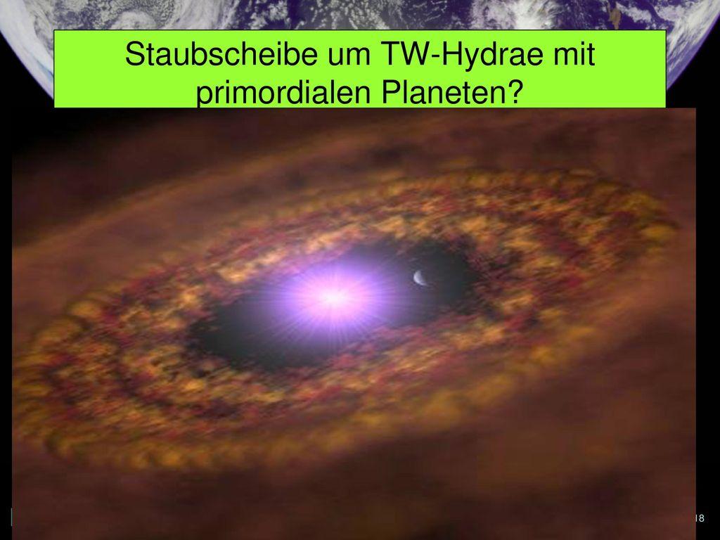 Staubscheibe um TW-Hydrae mit primordialen Planeten