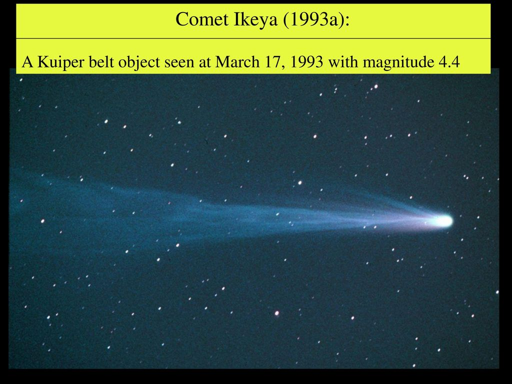 Comet Ikeya (1993a): A Kuiper belt object seen at March 17, 1993 with magnitude 4.4