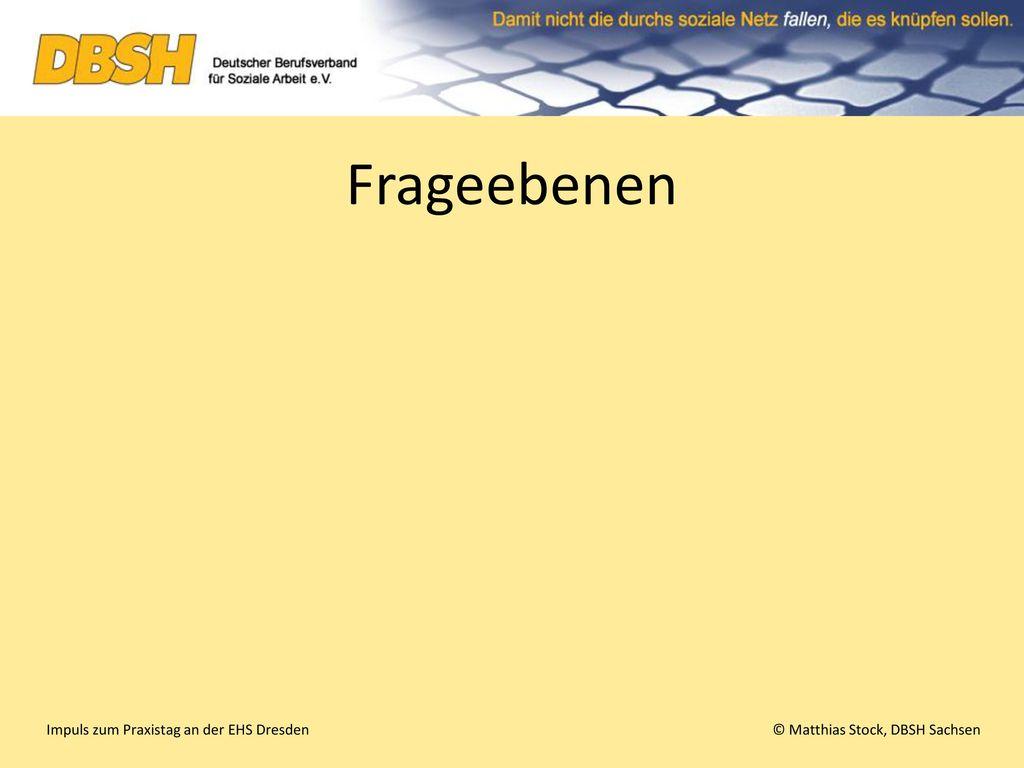 Frageebenen Impuls zum Praxistag an der EHS Dresden