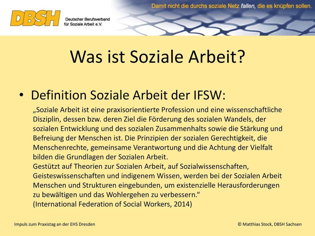 Was ist Soziale Arbeit Definition Soziale Arbeit der IFSW: