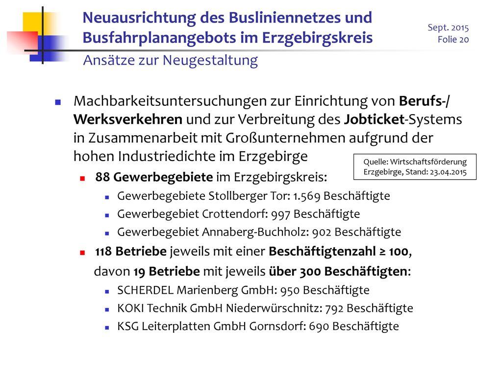 Quelle: Wirtschaftsförderung Erzgebirge, Stand: 23.04.2015