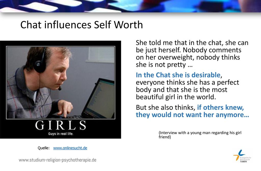 Chat influences Self Worth