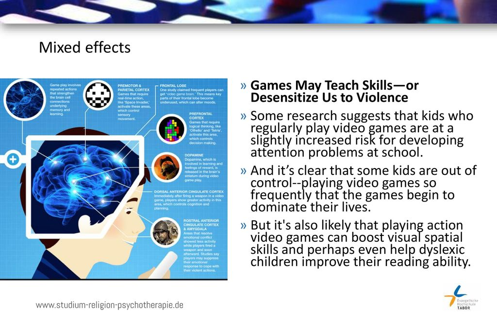 Mixed effects Games May Teach Skills—or Desensitize Us to Violence