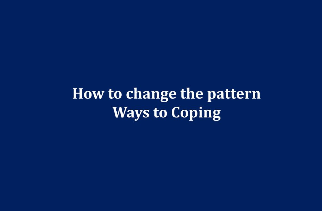 How to change the pattern