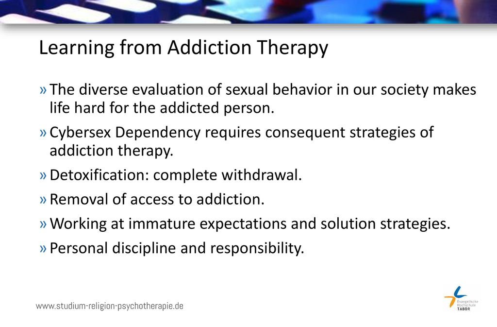 Learning from Addiction Therapy