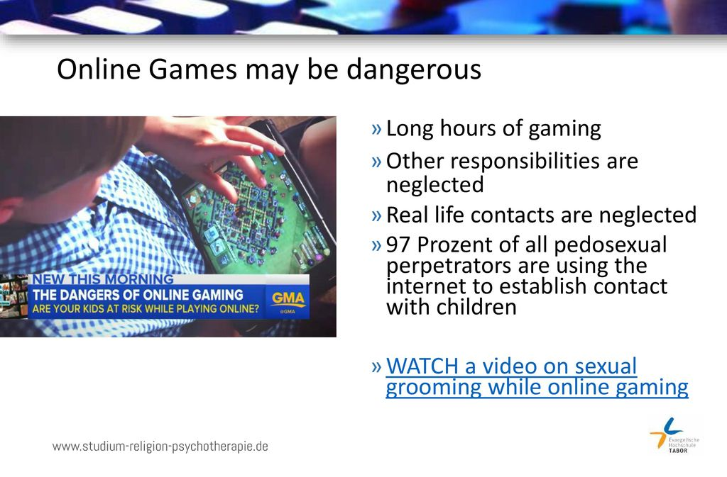 Online Games may be dangerous