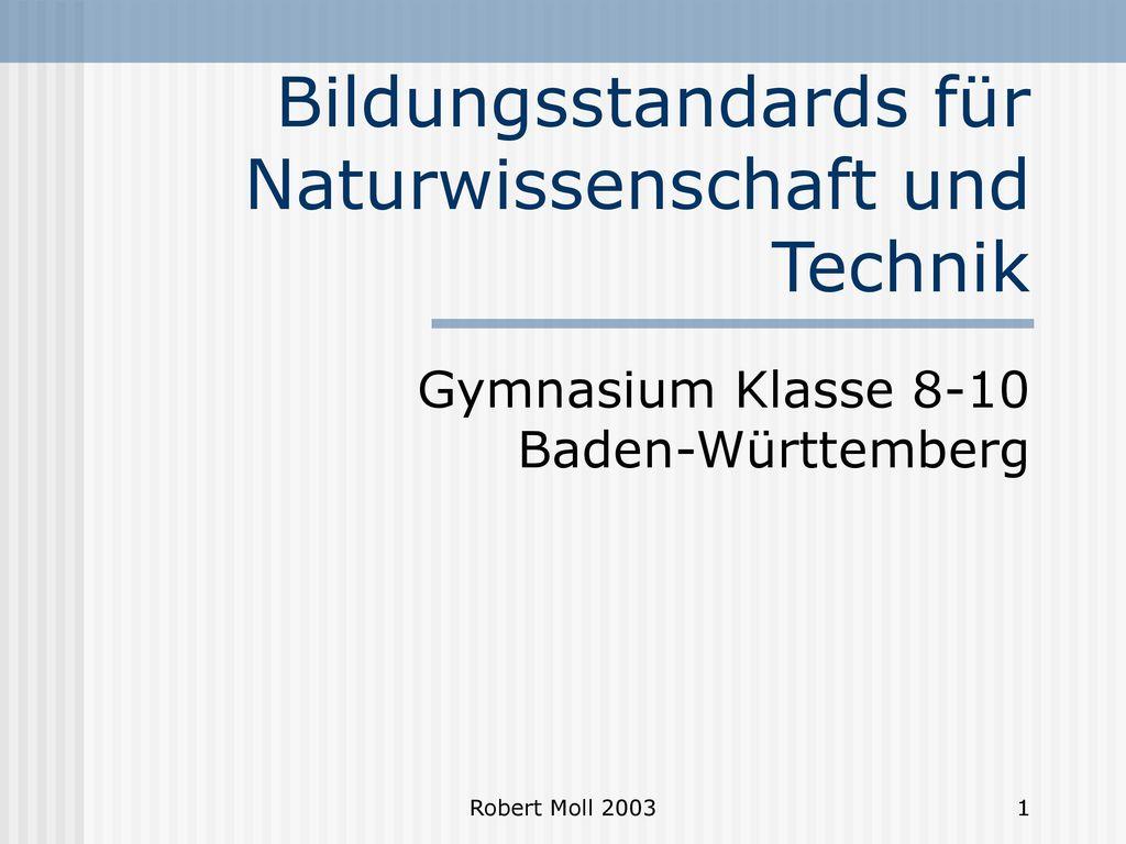 Bildungsstandards für Naturwissenschaft und Technik