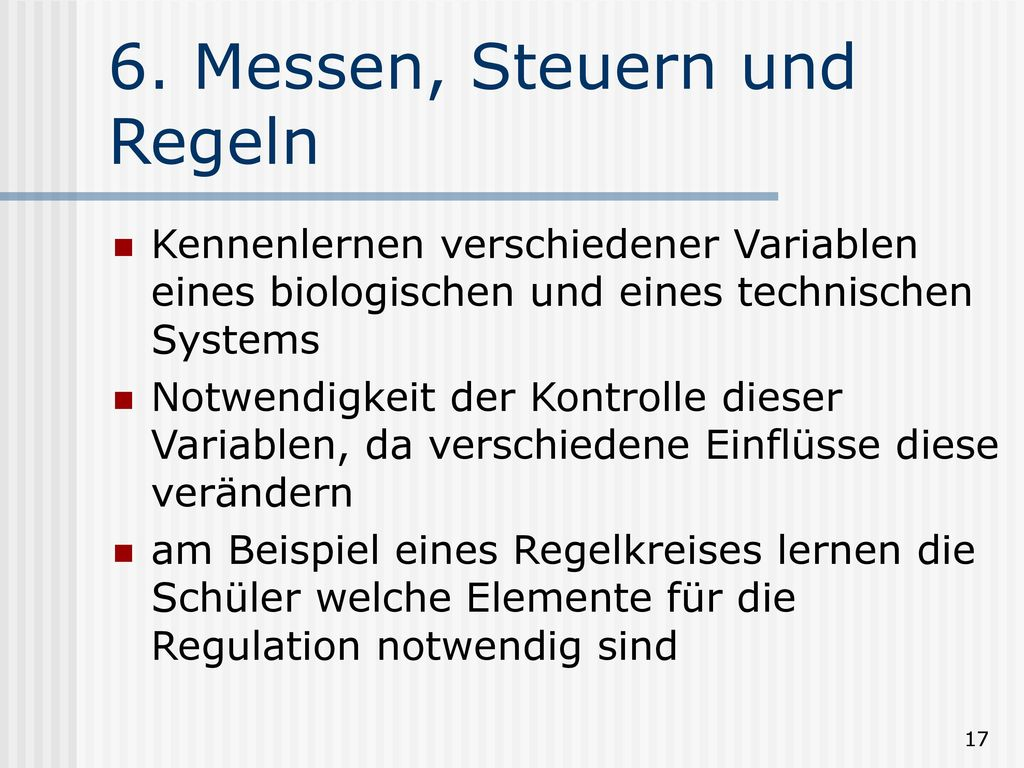 6. Messen, Steuern und Regeln