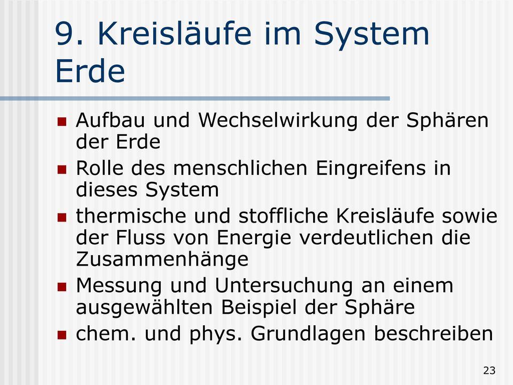 9. Kreisläufe im System Erde
