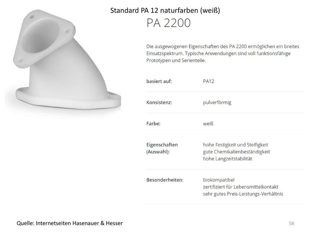 Standard PA 12 naturfarben (weiß)