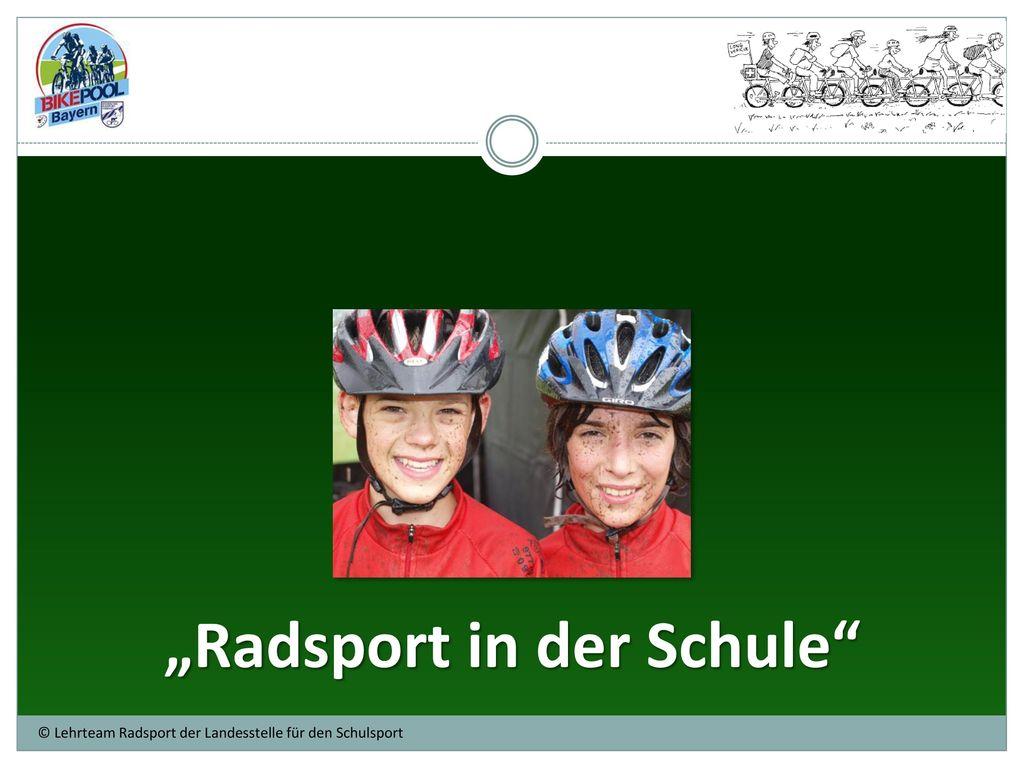 """""""Radsport in der Schule"""