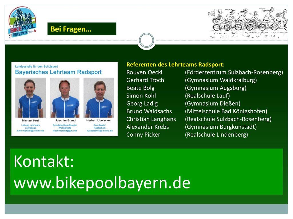 Kontakt: www.bikepoolbayern.de