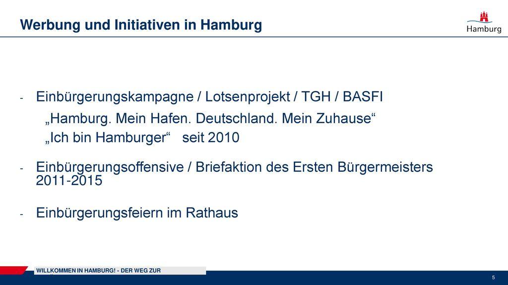 Werbung und Initiativen in Hamburg