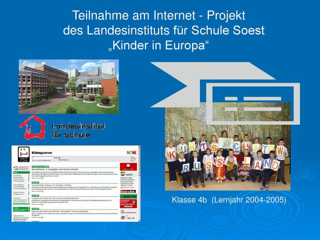 """Teilnahme am Internet - Projekt des Landesinstituts für Schule Soest """"Kinder in Europa"""