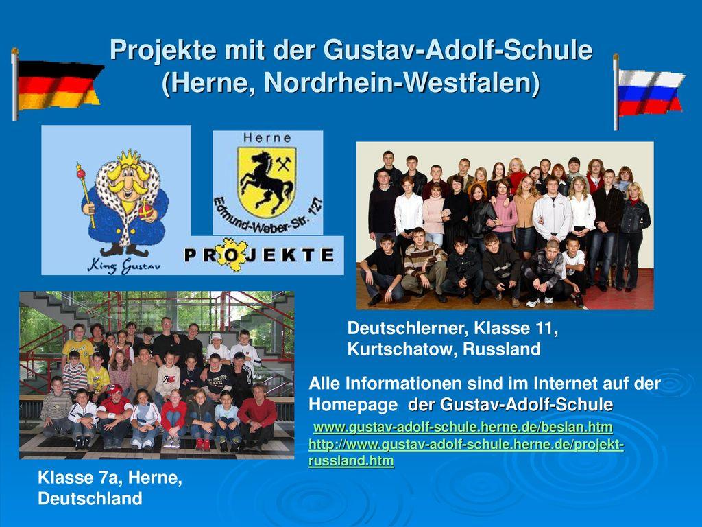 Projekte mit der Gustav-Adolf-Schule (Herne, Nordrhein-Westfalen)
