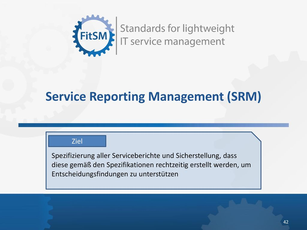 Service Reporting Management (SRM)