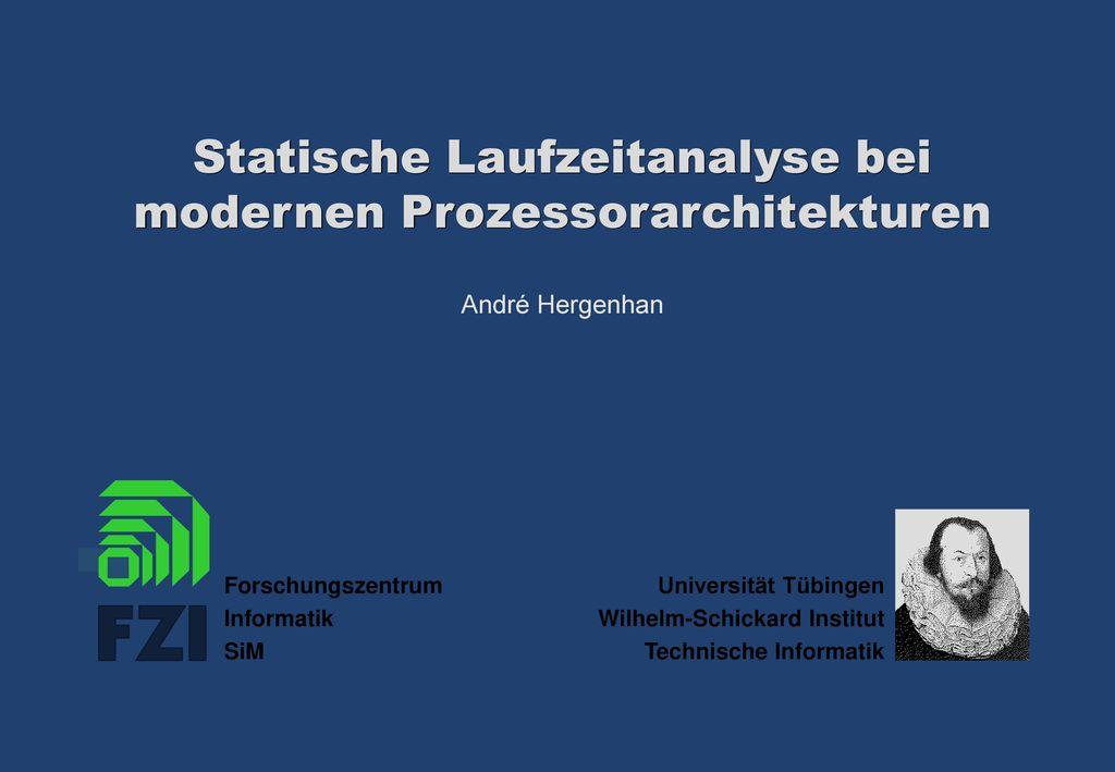 Statische Laufzeitanalyse bei modernen Prozessorarchitekturen