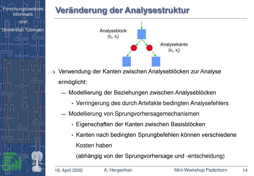 Veränderung der Analysestruktur