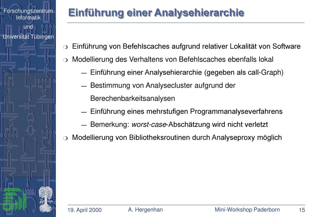 Einführung einer Analysehierarchie