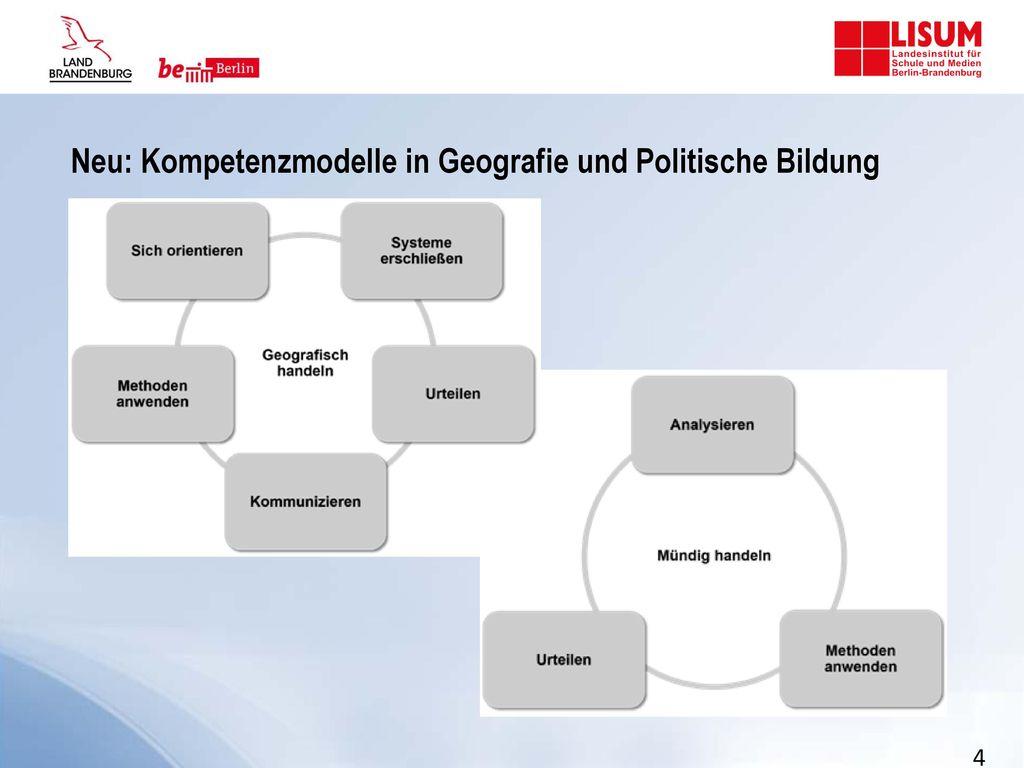 Neu: Kompetenzmodelle in Geografie und Politische Bildung