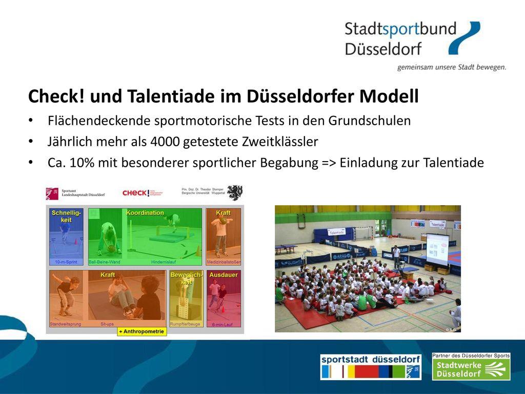 Check! und Talentiade im Düsseldorfer Modell