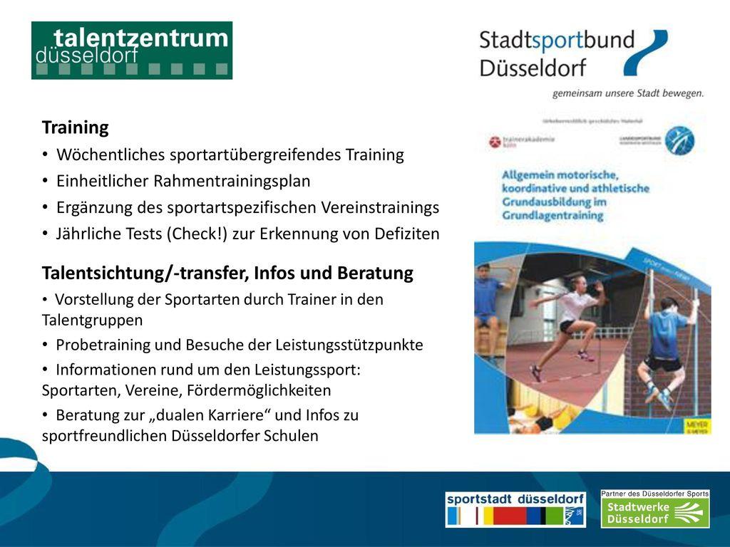 Talentsichtung/-transfer, Infos und Beratung