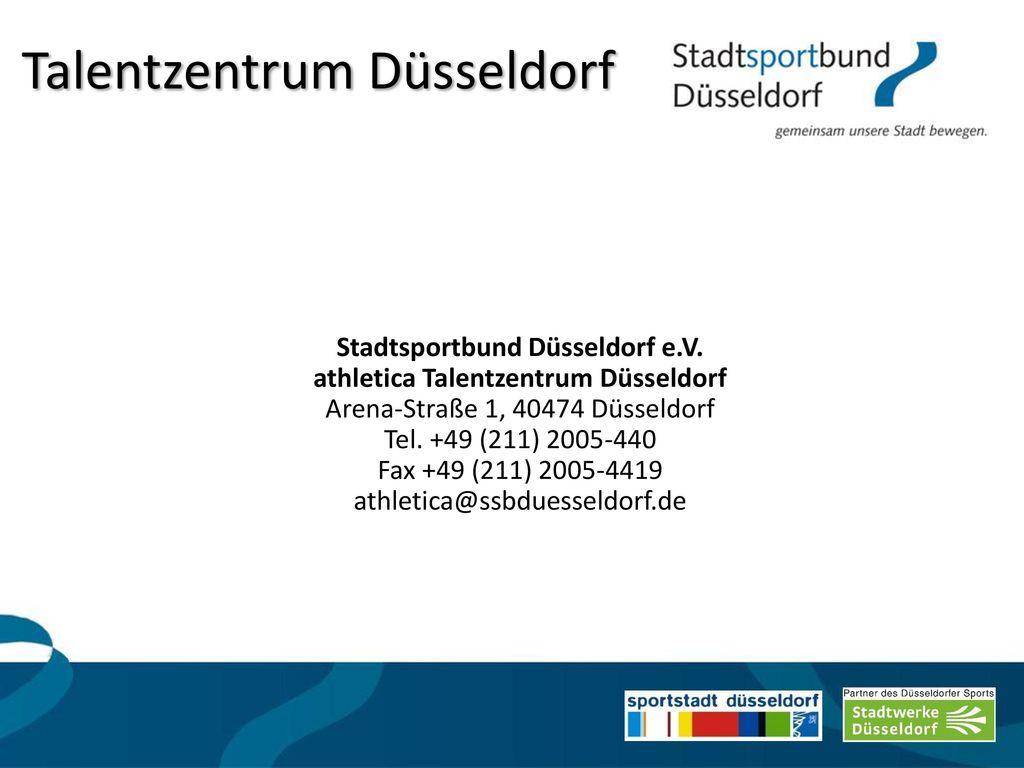 Stadtsportbund Düsseldorf e.V. athletica Talentzentrum Düsseldorf