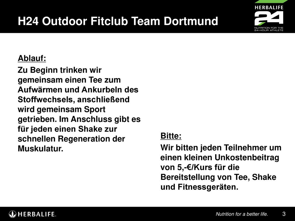H24 Outdoor Fitclub Team Dortmund