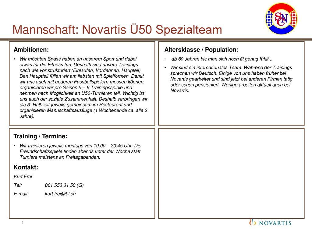 Mannschaft: Novartis Ü50 Spezialteam