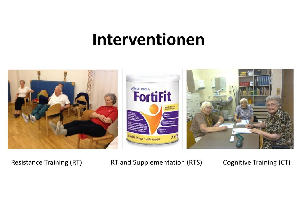 Interventionen Resistance Training (RT) RT and Supplementation (RTS)
