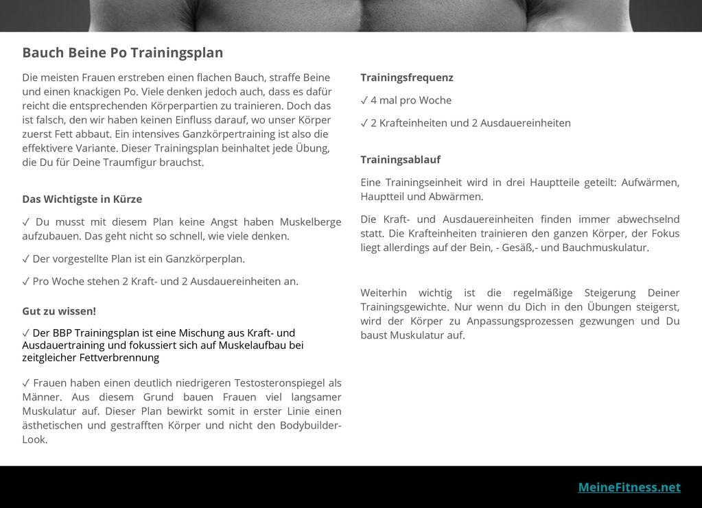 Bauch beine po trainingsplan ppt video online herunterladen - Steigerung testosteronspiegel ...