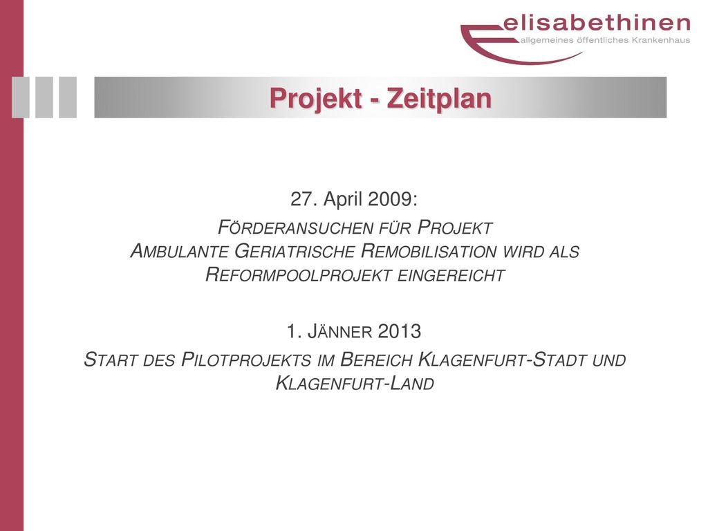 Projekt - Zeitplan 27. April 2009: