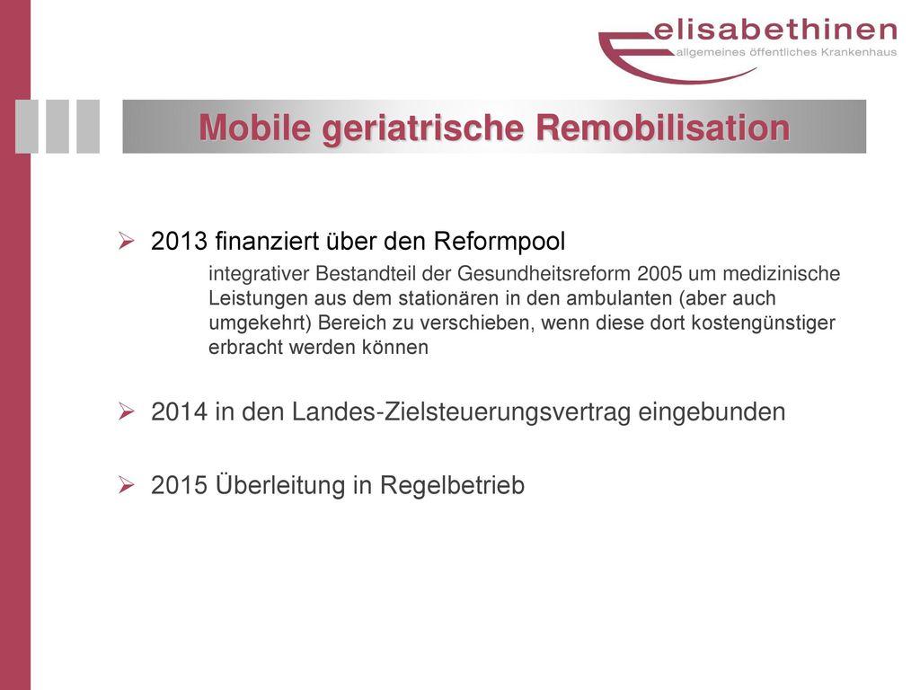 Mobile geriatrische Remobilisation
